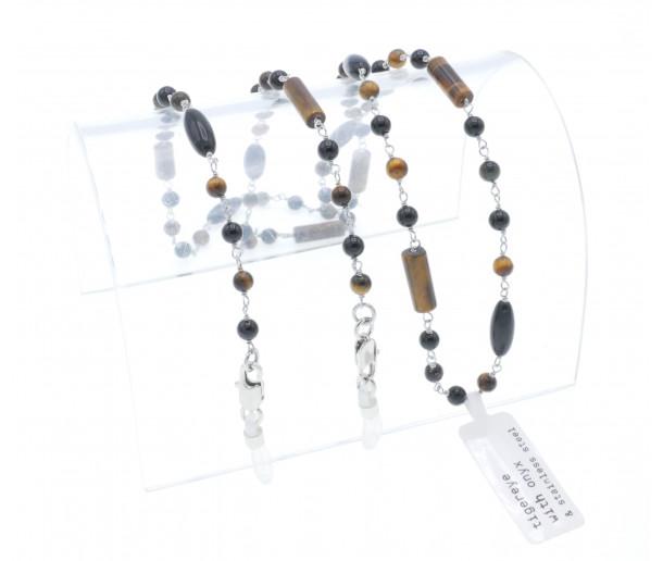 Luxury Onyx & Tiger-eye Chain No.159
