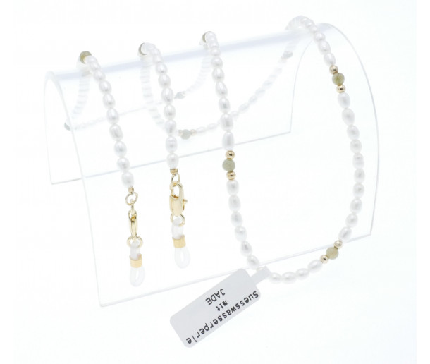 Luxury Real Pearl Chain with Jade No.252
