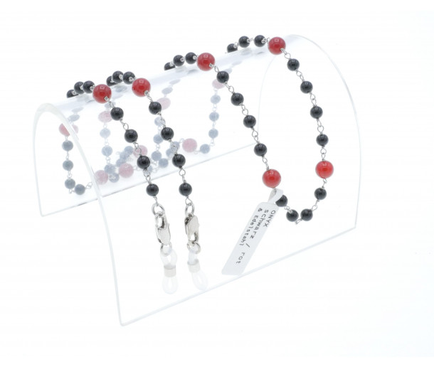 Luxury Black and Red Onyx Dream Chain No.264