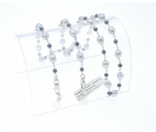 Luxury Pearl & Hematite Chain No.157