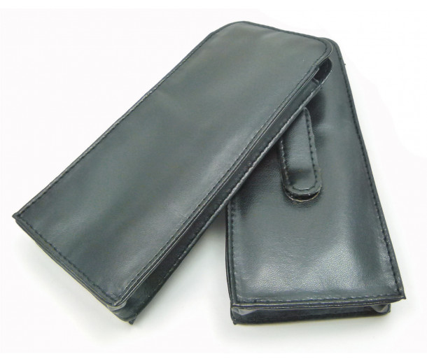 E108CLIP Large Vegan Leather Slip-in with Magnetic closure and Clip