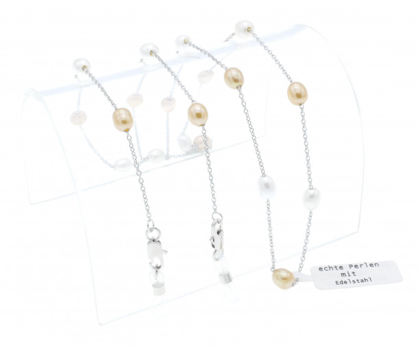 Luxury Caramel and White Mixed Pearl Chain No.262