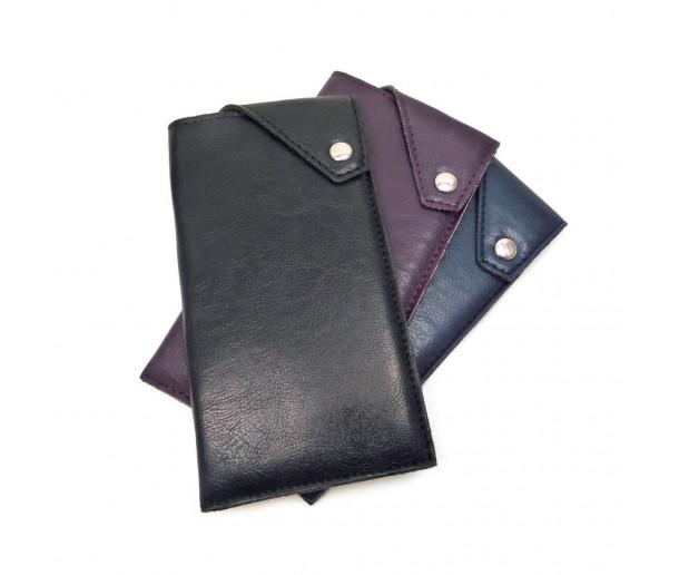 E10 Vegan-leather Padded Press-stud Slip-in Case